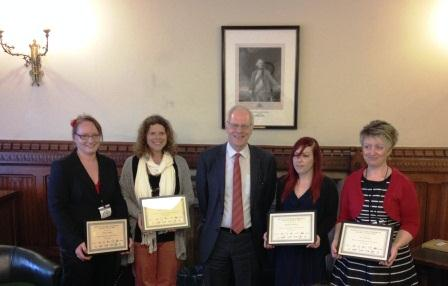 Award winners with Nic Dakin MP who presented the certificates