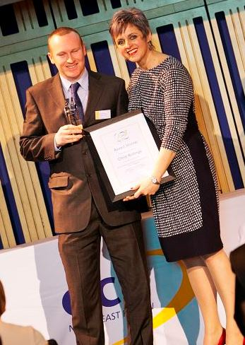 David Palmer on behalf of Chris Rollings, Outstanding Contribution to Learning Tutor Award