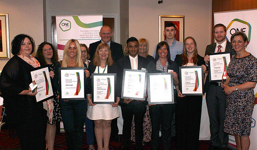 Award Winners pictured with Louise Morriit, Chief Executive and Ray Snowdon at One Awards