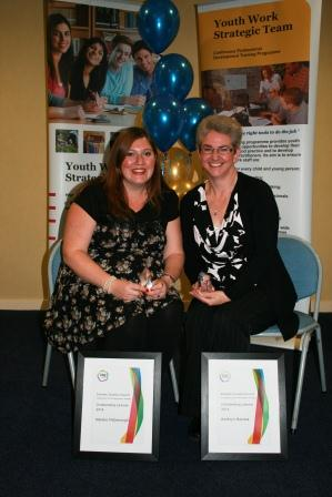 Natalie McDonough and Kathryn Barras who were presented with special awards for their commitment during the course.