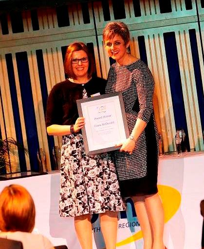 Claire McDonald, Life-changing Learning Award